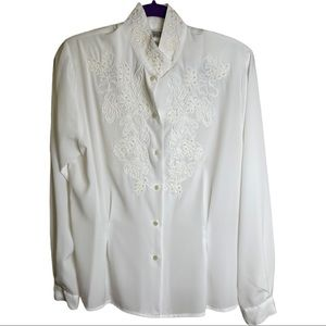 Vintage Christie & Jill blouse with pearl accents